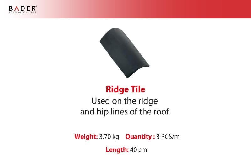Bader | Auxiliary Tiles | Ridge Tile