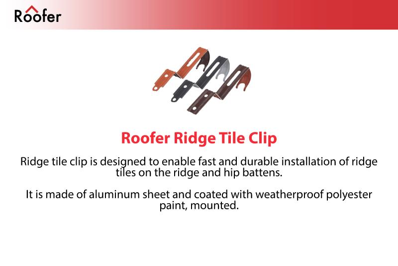 Roofer   Roof System Solutions   Roofer Ridge Tile Clip