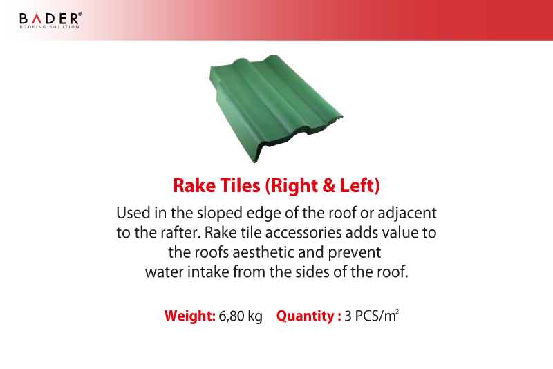 Bader | Auxiliary Tiles | Rake Tiles (Right & Left)