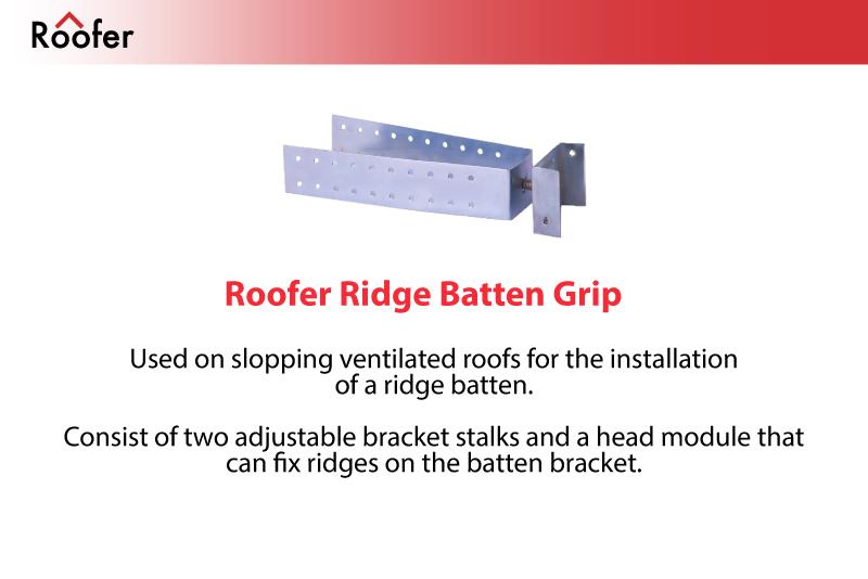 Roofer   Roof System Solutions   Roofer Ridge Batten Grip